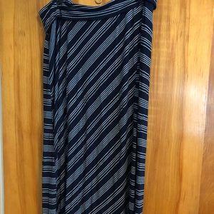 Motherhood Maternity Striped Maxi Skirt- XL